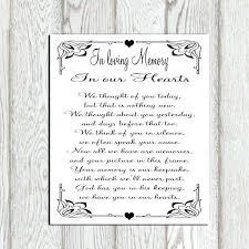 In Memory Wedding Program Modern Loving Verses For
