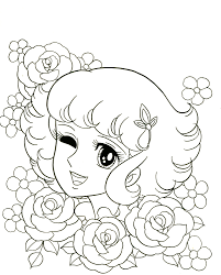 Lydie And Flowers Coloring Page For