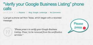 Google Phone Listing