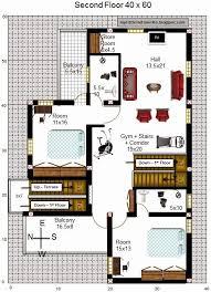 east facing house plans for 60 40 site unique 40 x 40 duplex house plans