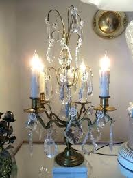 table lamp with crystals chandelier antique french brass crystal candelabra lamps vintage
