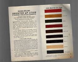 Sherwin Williams Stain Chart Vintage Sherwin Williams Stain Samples Brochure 1910s W