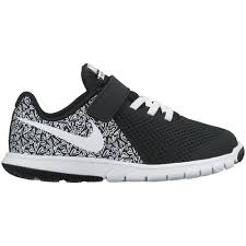 nike shoes for girls black and white. nike girls\u0027 flex experience 5 print running shoes for girls black and white e