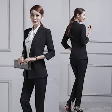 professional clothing 2019 customized new womens suit womens business professional dress