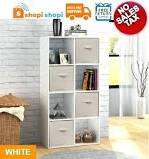 mainstays 8 cube organizer white storage shelf bookcase cabinet home furniture