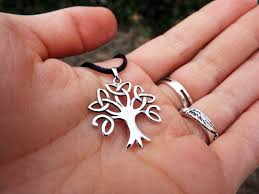 tree of life pendant silver handmade necklace sterling 925 celtic jewelry symbol