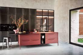 Cesar Designer Red Cesar Unit Laminate Kitchen Cesar Nyc Kitchens