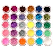 30 Colors Nail Art Acrylic Shiny Glitter Powder Dust Beads For ...