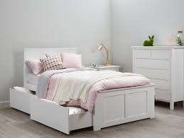 bedding fascinating white double with storage kids king single solid timber frame beds on new super