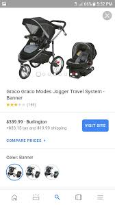 graco modes jogger travel system for
