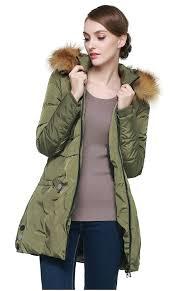 women s down jacket with faux fur trim hood winter coats