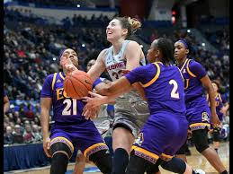 connecticut s katie lou samuelson 33 is fouled in the first half of an ncaa college basketball game against east carolina wednesday feb