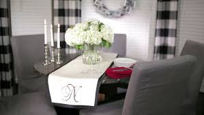 make a no sew monogrammed table runner