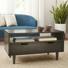 better homes gardens flynn mid century modern coffee table pecan com