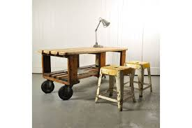 vintage factory trolley coffee table photo 1
