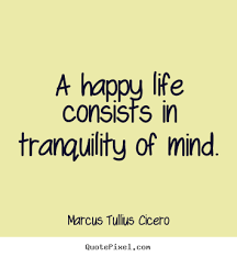 Tranquility Quotes Adorable Quotes About Life A Happy Life Consists In Tranquility Of Mind