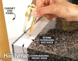 cut laminate countertop for sink how to install a the family handyman