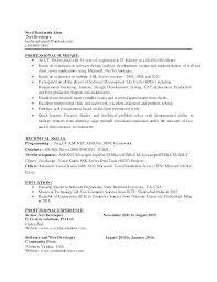 Mvc Resume Sample With Software Developer Resume Format Net