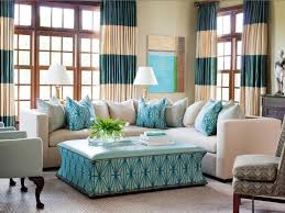 Unique Living Room Blue Ottoman Coffee Table For Coastal Living Room Interior Design