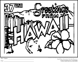 Small Picture Of Hawaii Coloring Pages For Kids And For Adults Coloring Home