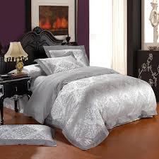 silver comforter set damask