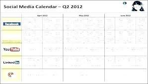 Social Media Content Calendar Template Free Templates Annual