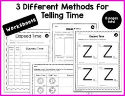 Z Time Chart Elapsed Time Worksheets