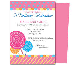 Childrens Birthday Party Invitation Templates Sample Business With