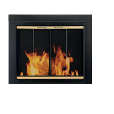 glass door for fireplace. Amazon.com: Pleasant Hearth AR-1020 Arrington Fireplace Glass Door, Black, Small: Jerry \u0026 Kim Thomas Dycke: Home Improvement Door For D