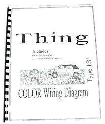 volkswagen thing type 181 color wiring diagram booklet 10 via volkswagen thing type 181 color wiring diagram booklet 10 via dastank com