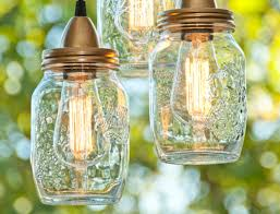 DIY Mason Jar Hanging Pendant Lights Craft Tutorial