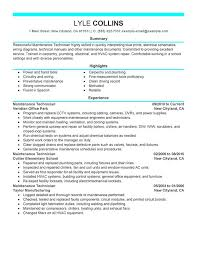 unforgettable maintenance technician resume examples to stand out    maintenance technician resume sample