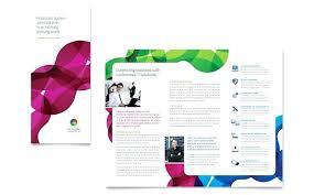 Brochure Template For Word 2007 Make Printable Medical Brochures In Microsoft Office