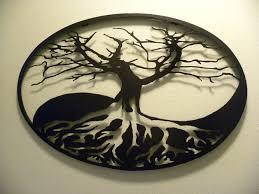 custom made oval yin yang tree of life metal wall art on white tree of life metal wall art with buy a custom oval yin yang tree of life metal wall art made to