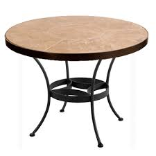 ow lee 54 inch round tile top dining table