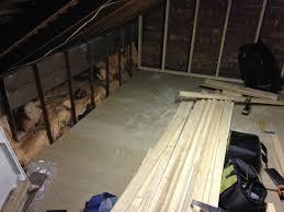 loft boards. mini loft conversion - day 1 get floor sub-frame and boards down