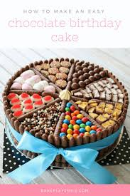 Birthday Cake An Easy Chocolate Birthday Cake Decorated With