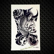 черный рыба карп временные татуировки для женщин средства ухода за кожей книги по