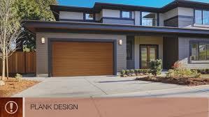 Modern Style Faux Wood Garage Doors Clopay Canyon Ridge Modern