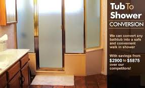 tub to shower conversion cost affordable walk in shower conversions showers and bathtubs for tub to