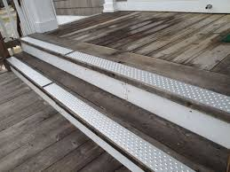 exterior stair treads and nosings. handi treads non slip silver exterior stair and nosings d