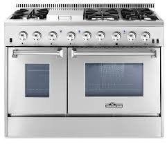 F THOR 48 Inch Dual Fuel Double Oven Range For Natural Gas