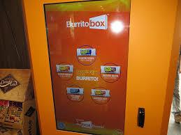 Movie Vending Machines Beauteous We Tried A Futuristic Burrito Vending Machine Called 'Burrito Box