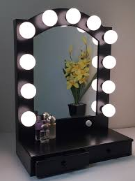 hollywood posh vanity mirror with drawers s makeup vanity with drawers