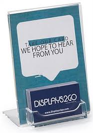 countertop acrylic business card display with sign holder