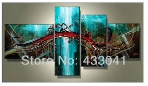 wall art set of 4 hand painted piece sets modern abstract large blue green red oil painting on canvas on wall art 4 piece set with wall art set of 4 hand painted piece sets modern abstract large blue
