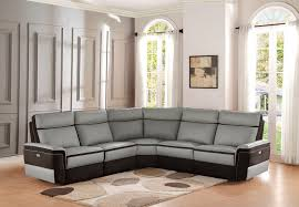 8318 laertes reclining leather sectional