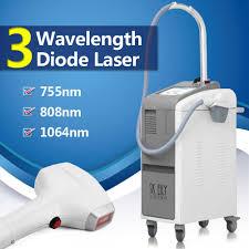 three wavelength 755 808 1064nm diode laser hair removal machine al 340