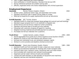 Forklift Operator Resume Extremely Ideas Forklift Operator Resume 100 Amazing Fork Lift 23