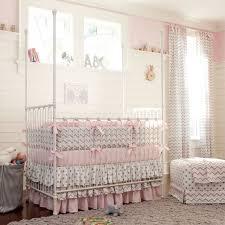 nursery designer crib bedding in pink
